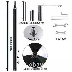 45mm Electroplated Chrome Finish Dance Pole Full Kit Removable Stripper Dancing
