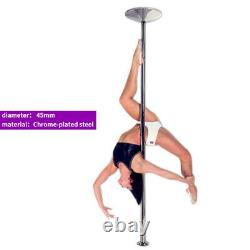 45mm Fitness Exercise Spinning Static Dance Pole Stripper Strip Portable 400KG