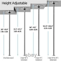 45mm Stripper Dance Pole Spinning Static Dancing Pole For Home Portable Fun