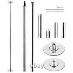 AW 45MM 9 FT Static Spinning Dancing Pole Kit for Party Club Exercise Fitness