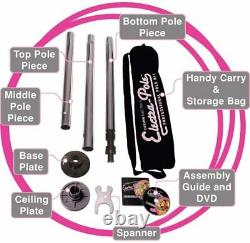 Carmen Electra Static Pole Dancing Pole Home Use Fitness Exercise Dance NEW