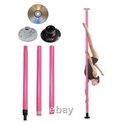 Dance Pole Full Kit Portable Stripper Exercise Fitness Club Party Pink