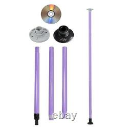 Dance Pole Full Kit Portable Stripper Exercise Fitness Party Dancing Purple