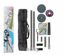 Dance Pole Kit 50mm Pro-Fit Professional Portable Spinning Attachable LED Light