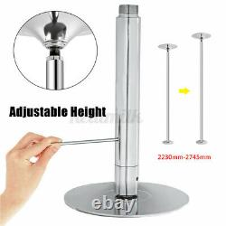 Dance Pole Static Steel Portable Stripper Club Dancing Exercise 45mm A+