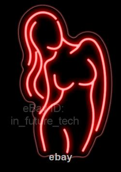 Pole Girl Live Nudes Dance Neon Sign Lamp Light With Dimmer Acrylic Beer Bar