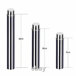 Pole Tube 15cm 25cm 45mm Steel Extend For X Stripper Silver Dance Spin Pole