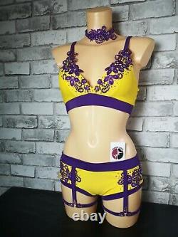 Pole dancing outfit pole fitness outfit competition stage wear