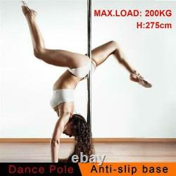 Portable Dance Pole Static Spinning Exercise Fitness Silver