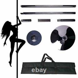 Portable Stripping Pole, Spinning Dance Pole- 45mm Fitness Exercise Pole