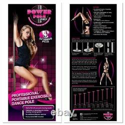 Professional Power Pole Pro Spinning Stripper Dance Pole START AT HOME BUSINESS