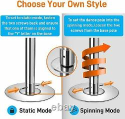 Professional Upgrade Spinning Dance Pole Portable & Removable Stripper Fitness