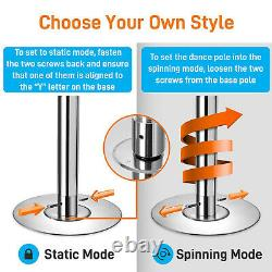 SereneLife Adjustable Height Spinning Static Fitness and Dancing Pole (2 Pack)