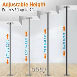 SereneLife Adjustable Height Spinning Static Fitness and Dancing Pole (4 Pack)