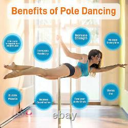 SereneLife Portable Adjustable Height Spinning Static Fitness and Dancing Pole