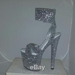 Stripper Shoes High Platform 7 1/2 Stiletto Pole Dancing Wide Fitting Available