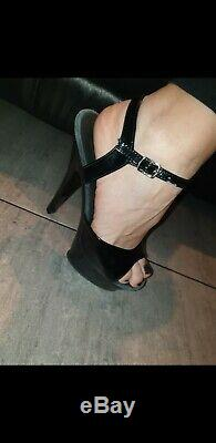 Used Pleasers 6 Inch Platform High Heel Pole Dancing Shoes Size 5 Eur 38