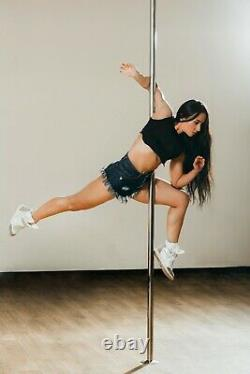 X-Dance Pole 45mm Gold Spinning Stripper Sport Fitness Exercise with Carry Case