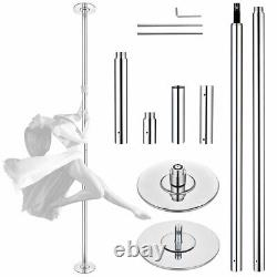 1/2 Pack Aw 9/10ft 45mm Stripper Static Dancing Pole Kit Pour L'exercice Du Club
