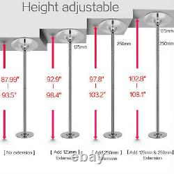 45mm Electroplated Chrome Finish Dance Pole Full Kit Amovible Stripper Dancing