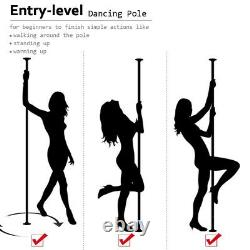 Dance Pole Full Kit Portable Stripper Exercice Fitness Party Dancing Purple