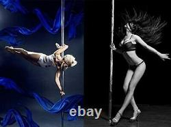 Dance Pole Static Spinning 45mm Portable Stripper Dancing Fitness Exercise Party